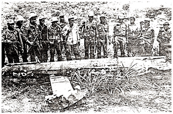 Rhodesian helicopter shot down