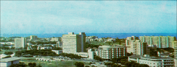 Panoramic view of Beira, mid-1980s