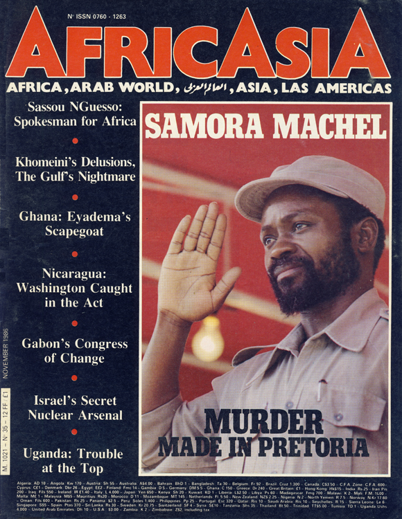 Cover of AfricAsia, November 1986