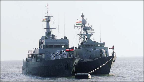 Two ships of the Kenyan Navy