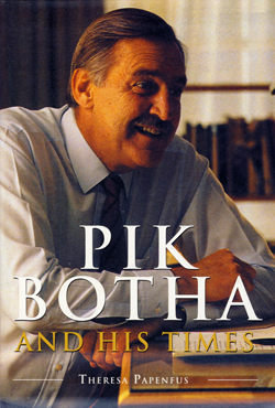 Cover of biography of Pik Botha