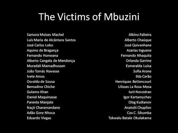Names of the Victims