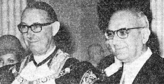 Marcelo Caetano and Baron Mais in 1973