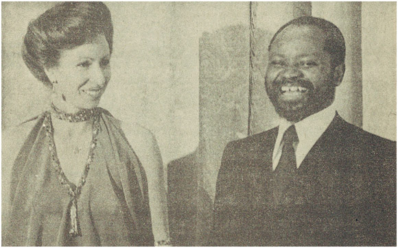 Samora Machel with Princess Anne